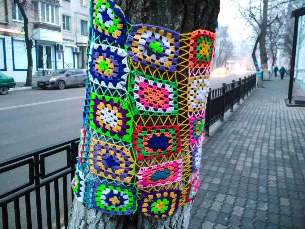 Деревья в Воронеже одели в странные свитера