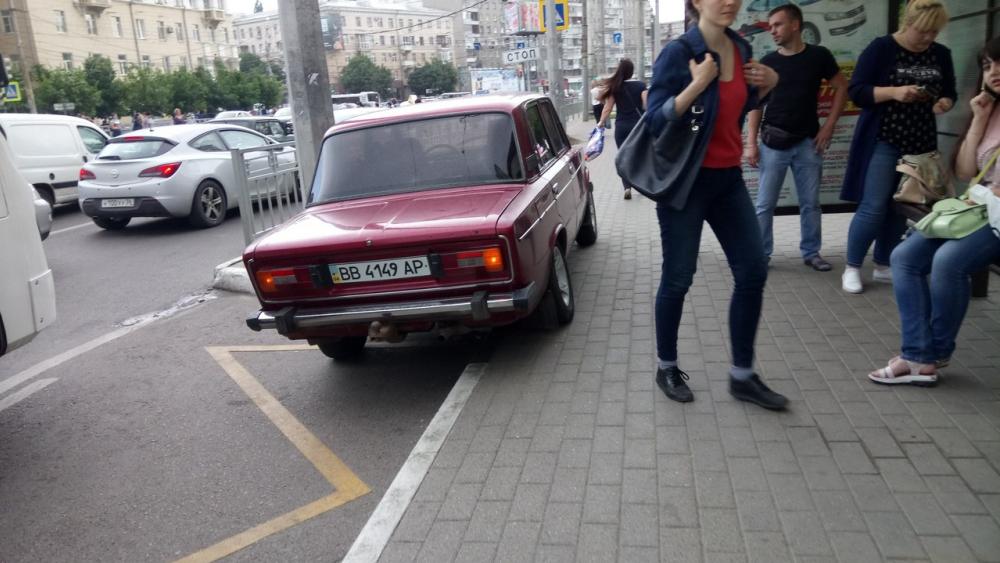 Быдло-парковка украинца в центре Воронежа спровоцировала конфликт