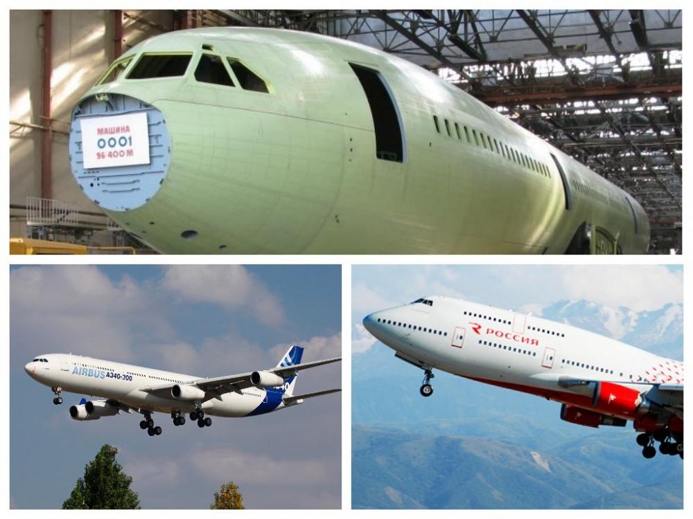 Сравнение новейшего Ил-96-400М с западными четырехдвигательными пассажирскими самолетами