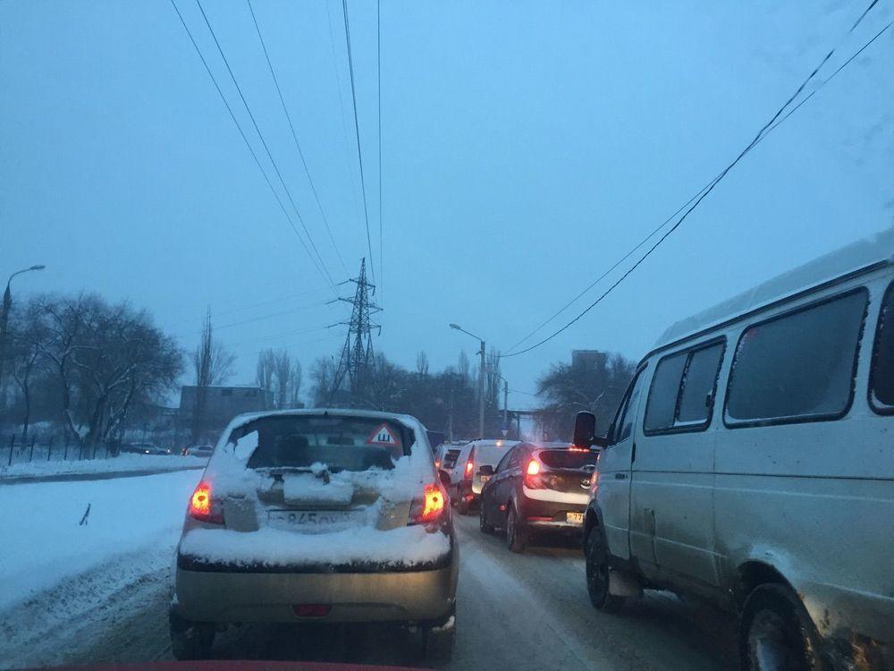 Воронежцев рассмешили просьбы водителей, застрявших в пробке