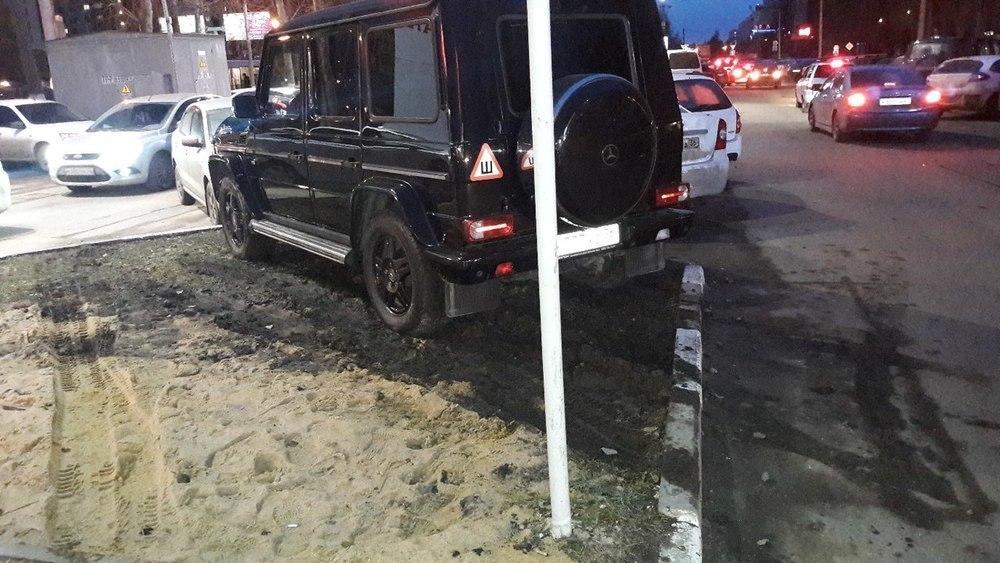 Воронежец показал, как парковаться, когда у тебя Gelandewagen
