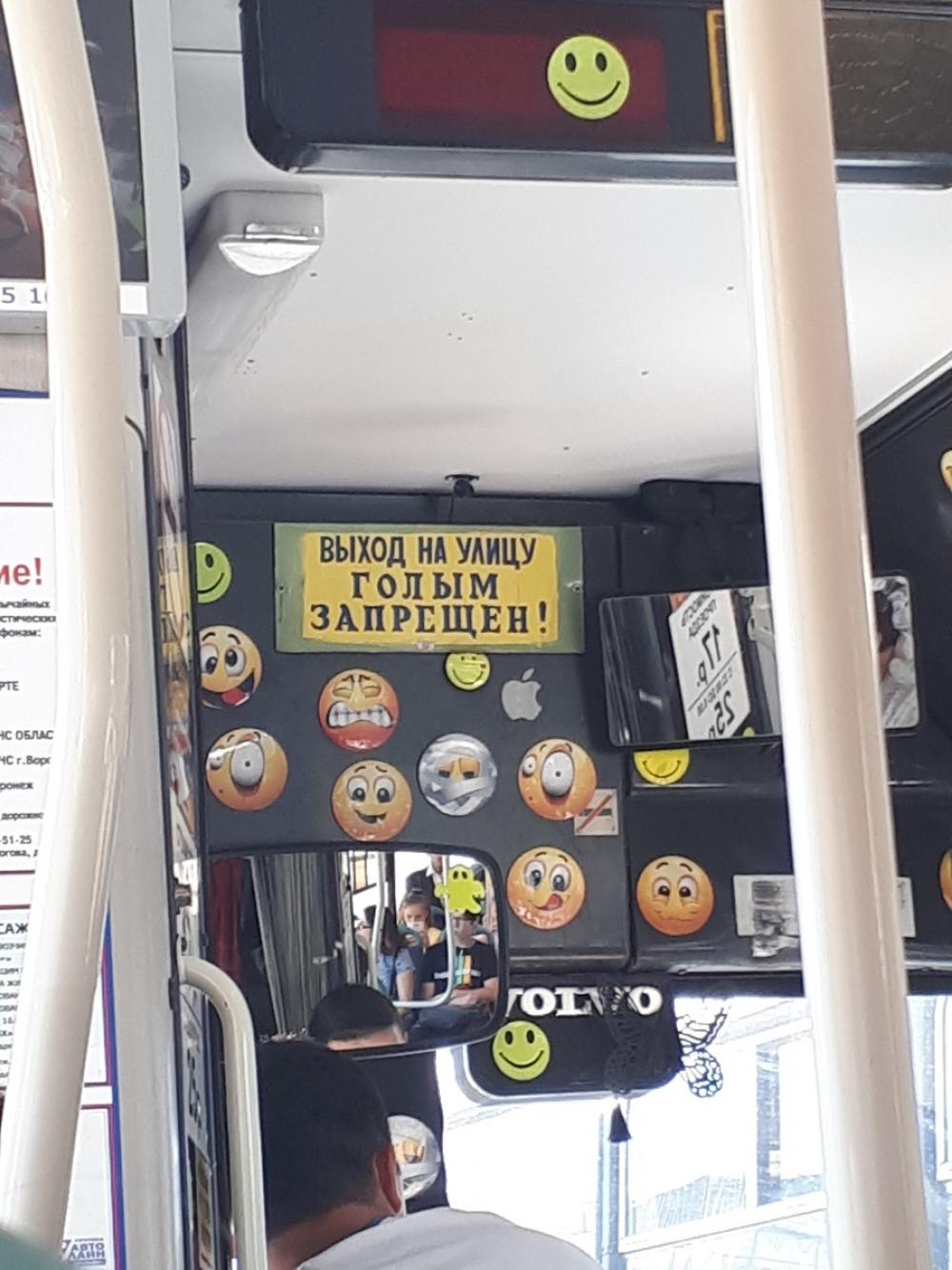 Воронежцам запретили выходить из автобуса голышом