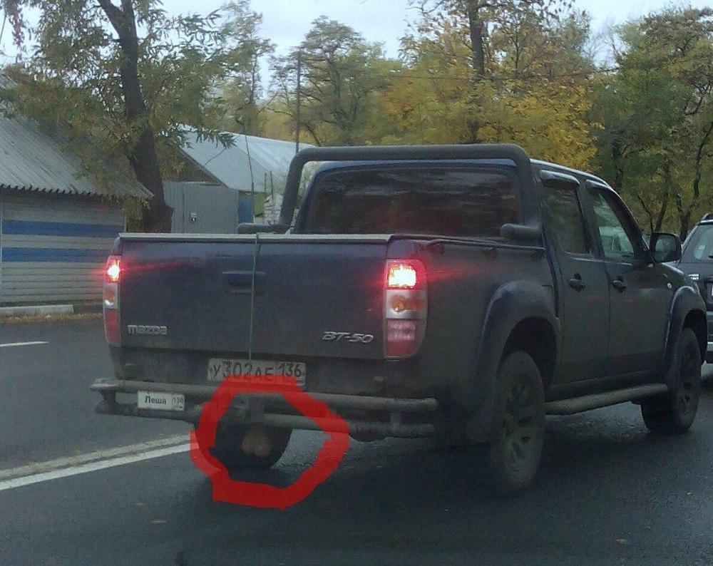 Автомобиль с мошонкой сфотографировали на дороге в Воронеже