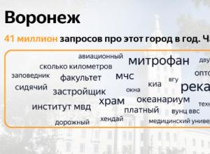 Стало известно, что чаще всего про Воронеж ищут в Яндексе