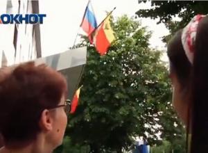 Воронежцы перепутали расположение цветов на российском флаге