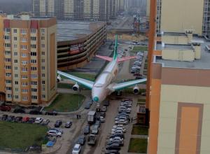 В Воронеже «посадили» Boeing 747 во дворе Московского квартала