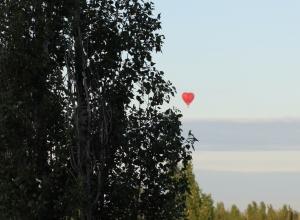 Воздушный шар в виде огромного сердца над Машметом восхитил воронежцев
