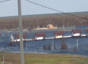 Воронежцы обрадовались утонувшим строениям на заливном лугу