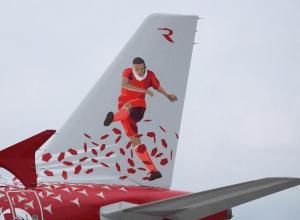 Роскошный самолет сборной Марокко показали в деталях в Воронеже