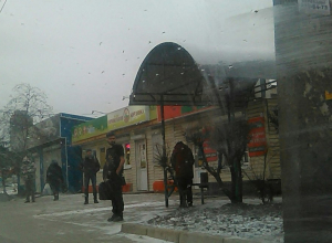 Греющегося за счет бороды парня сфотографировали в Воронеже