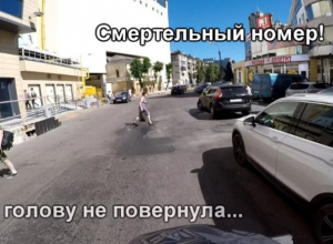 Дорожные нелепости снял от 1-го лица байкер в Воронеже