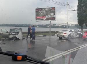 Последствия страшной аварии с участием BMW 6 в Воронеже сняли на видео