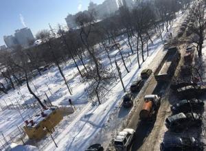 Воронежцы начали свой день в 9-балльных пробках