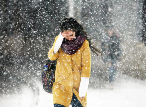 На Воронеж надвигается снегопад с сильным ветром
