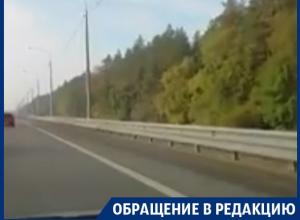 Автомобилистка сняла на видео хитрую засаду с треногой в Воронеже