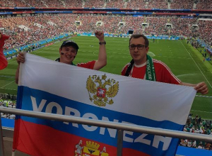 Воронежские футбольные фанаты засветились на матче Германия-Мексика