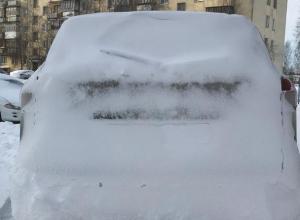 Воронежцы не смогли угадать по фото марку машины, зарытой в снегу