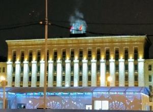 Ночью над воронежским правительством пошёл дым