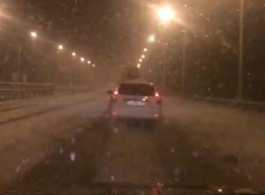 Жуткую метель на трассе М-4 «Дон» воронежцам показали на видео