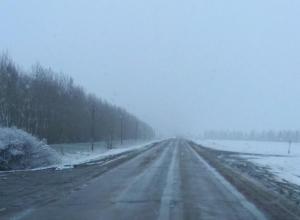 Воронежские трассы замело снегом