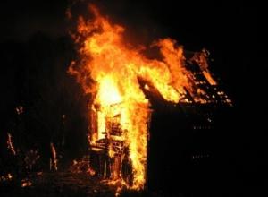 В селе Чертовицы под Воронежем ночью сгорела дача