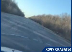 Воронежец на видео поблагодарил чиновников за «дерьмовые» дороги