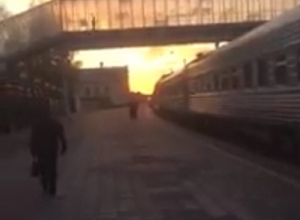 В центре Воронежа остановили поезд по прихоти друга чиновников