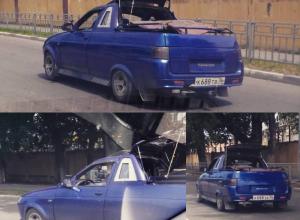 Безумный тюнинг ВАЗа свел с ума автомобилистов в Воронеже