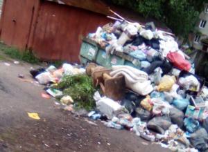 Воронежцев задушили зловония от горы мусора на Матросова