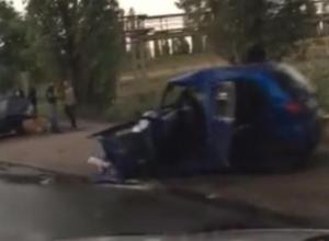 Страшные последствия ДТП с Matiz и BMW сняли в Воронеже