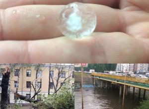 Очередной ураган в Воронеже превращал улицы в реки и ломал деревья, как спички