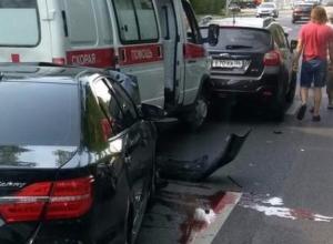 МВД сообщило о пострадавших в аварии с неадекватным водителем и «скорой» в Воронеже
