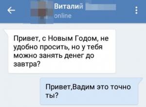 Житель Воронежа показал, как перехитрил в переписке мошенника «ВКонтакте»