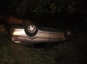 Опрокидывание автомобиля от первого лица сняли на воронежской трассе