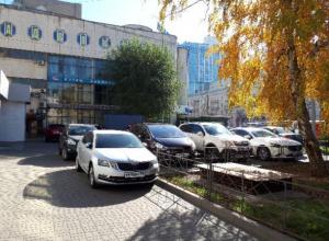 Массовым автохамством ответили в Воронеже на платные парковки