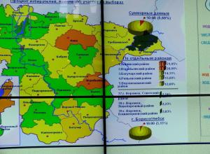 Больше всего на выборы пришли жители Аннинском районе