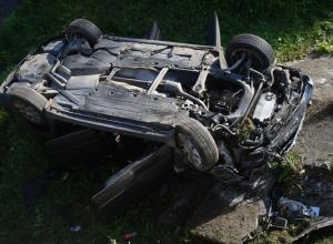 Автомобилист скончался после опрокидывания Audi под Воронежем