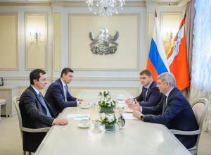 Воронежский губернатор Гусев и Рогозин обсудили дела на ВАСО