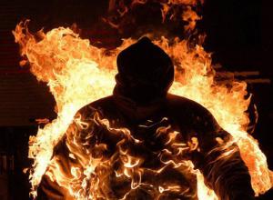 В Воронеже мужчина поджег друга, пытаясь потушить сигарету спиртом