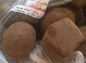 В воронежском супермаркете девушке под видом картошки продали камень