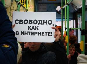 В Воронеже активисты движения «Весна» сравнили российский Интернет с местными маршрутками