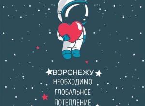 Воронежцы считают, что городу необходимо глобальное потепление сердец