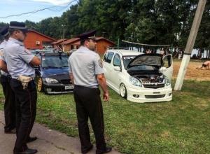 Воронежские полицейские оценили заниженные машины на автофестивале