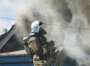 Воронежец отравился угарным газом в горящем доме