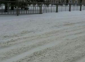 Воронежские власти отчитались об уборке снега прошедшей ночью
