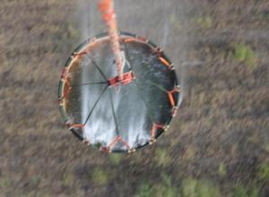 Героическое тушение пожара в «Погоново» сняли с борта вертолета