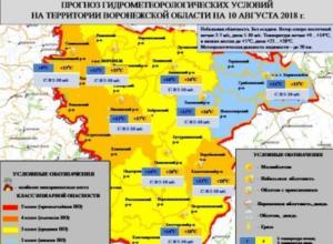 МЧС назвало районы Воронежской области с 4-м классом пожарной опасности