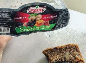 Огромный гвоздь попался жительнице Воронежа в премиальном хлебе