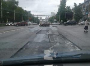 Тетрис на асфальте устроили дорожники в Воронеже