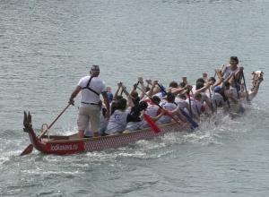На День города Воронежское водохранилище снова примет регату на лодках «Дракон»